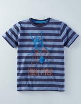 Boden Stripy Graphic T-shirt