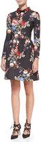 ERIN erin fetherston Long-Sleeve Floral-Print Cocktail Dress