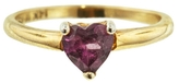 FFR x YLANG 23 Rubellite Heart Pinky Ring - Yellow Gold