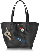 Marc Jacobs Vintage Collage Wingman Black Nylon Tote Bag