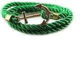 Jiayiqi Boys Black Nylon Rope Cord Bangle Ancient Bronze Anchor Bracelet Friendship Great Gift Present