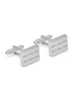 Oxford Cufflinks Silver Check