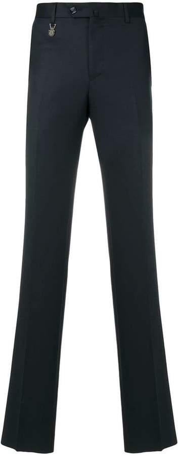 Billionaire logo charm skinny trousers