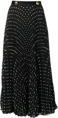Prada Polka Dot Print Pleated Skirt