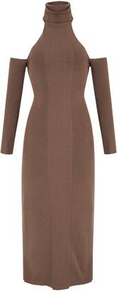 Aya Muse Loma Cold-Shoulder Knit Midi Dress