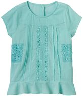 Girls 4-12 SONOMA Goods for LifeTM Crochet Paneled Top