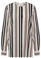 HUGO BOSS Relliana Silk Striped Blouse 2 Patterned