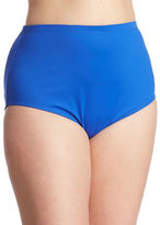 La Blanca Womens Plus Hi-Rise Swim Bottoms