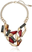 "Kenneth Cole New York ""Jeweled Elements"" Multi-Colored Geometric Stone Statement Necklace, 16"""