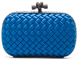 Bottega Veneta Knot Clutch in Blue,Animal Print.