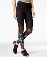 Jessica Simpson The Warm Up Mesh-Inset Yoga Leggings, Only at Macy's