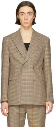 Nanushka Brown Wool Malvin Double-Breasted Blazer