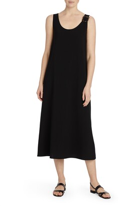 Lafayette 148 New York Harpin Buckle Detail Midi Tank Dress