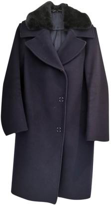 Acne Studios Navy Wool Coat for Women