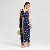LUX II Women's Border Printed Maxi Dress with Ruffle