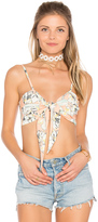 MinkPink Palm Springs Tie Front Crop Top