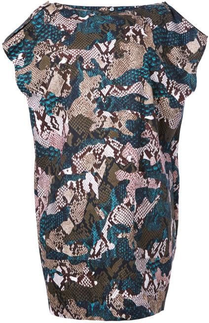 MSGM Preorder Python Printed Patchwork Camouflage Dress