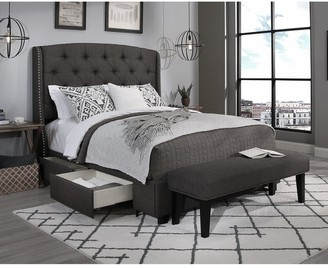 Seahawk Designs Republic Design House Steel-Core Peyton Storage Bed with Bench