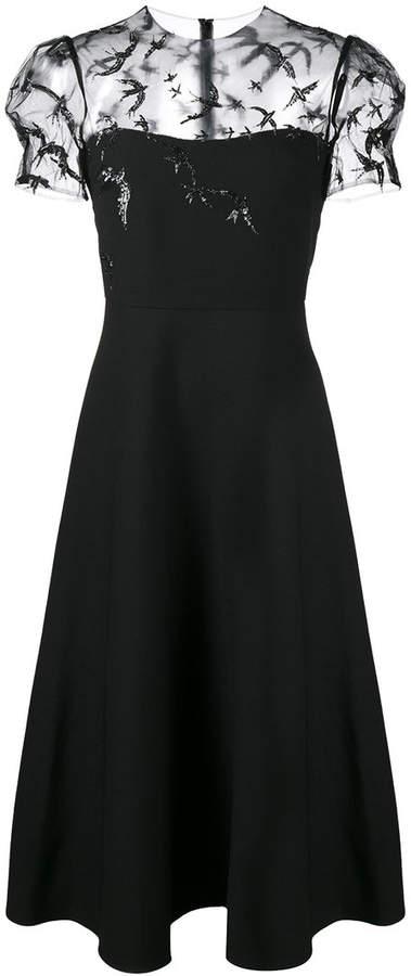 Valentino sequin embellished sheer dress