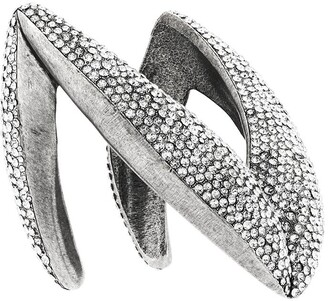 Saint Laurent Crystal-Embellished Chevron Cuff Bracelet