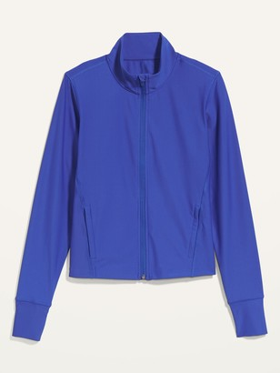 Old Navy Powersoft Cropped Zip-Front Jacket for Women