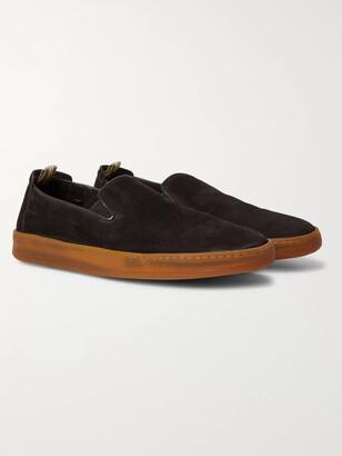 Officine Creative Key Suede Slip-On Sneakers