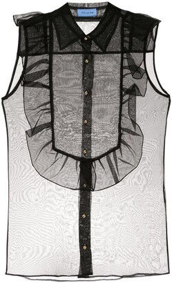 macgraw Bonnie sleeveless sheer blouse