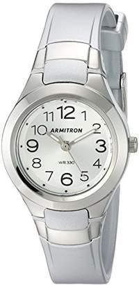 Armitron Sport Women's 25/6418SIL Easy To Read Dial -Tone Resin Strap Watch