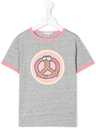 Little Marc Jacobs Ringer Pretzel T-shirt