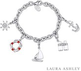 Laura Ashley Nautical Collection Created White Sapphire Charm Bracelet.