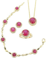 JCPenney FINE JEWELRY Lab-Created Ruby & Cubic Zirconia 4-pc. Jewelry Set