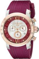 Mulco Women's MW5-3219-523 Prix Tire Analog Display Swiss Quartz Purple Watch