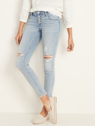 Old Navy Low-Rise Button-Fly Rockstar Super Skinny Jeans for Women