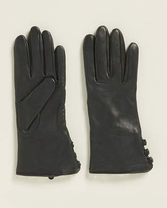 Fownes Brothers Leather & Rabbit Fur Gloves