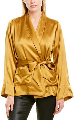CAMI NYC The Drew Silk Wrap Coat