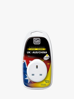 Go Travel USB UK to Australia/China Travel Adaptor
