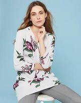 Joules Womens Arvia Printed Woven Tunic in Viscose in Silver Artichoke Floral