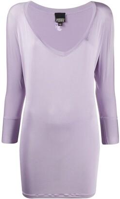 Gianfranco Ferré Pre Owned 1990s deep V-neck blouse