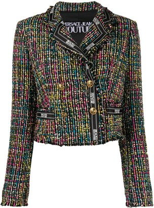 Versace Cropped Yarn Jacket