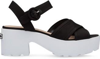Miu Miu Gabardine Platform Sandals