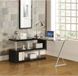 Orren Ellis Ainar Glass Desk