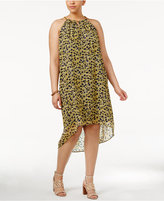 MICHAEL Michael Kors Size Lydia Floral-Print Halter Dress