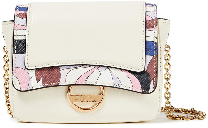 Emilio Pucci Paneled Leather Shoulder Bag