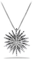 David Yurman Starburst Medium Pendant with Diamonds on Chain