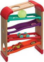 Infantino Natural Wood Race & Drop Roller Rack Development Toys