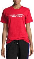 Public School Make America New York Cotton T-Shirt