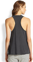 James Perse Cotton Jersey Racerback Tank