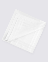 M&S Collection 7 Pack Supima® Cotton Handkerchiefs with Sanitized Finish®