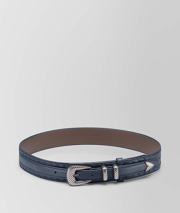 Bottega Veneta DENIM INTRECCIATO NAPPA BELT