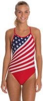 TYR American Flag Female Crosscutfit One Piece Swimsuit 8119121